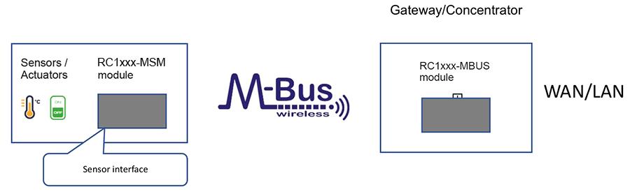 Wireless M-Bus Sensor Interface Modules (MSM) - Radiocrafts