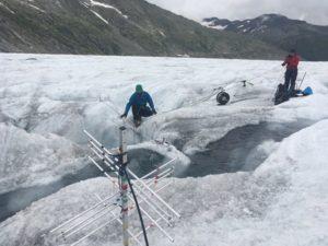 greenland glacier fieldwork